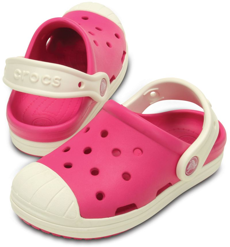 Crocs Bump It Clog KIDS Pink Kinder Clogs Sandale Schuhe Riemen KBIT5