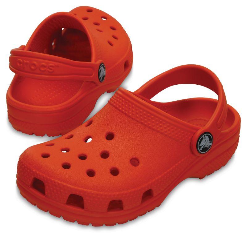 Crocs Classic Kids Orange Hellrot Tangerine Kinder Clogs Sandalen Schuhe KCA33
