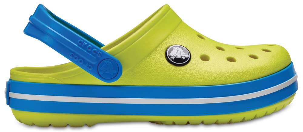 5951693f64b55e CROCS Crocband Kids Kinder Clogs Hausschuhe Grün Tennis Ball Green Ocean