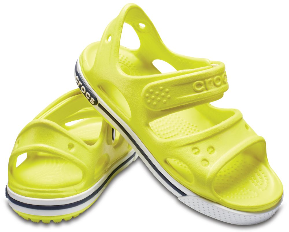 CROCS Crocband II Sandal Kids Kinder Sandalen Grün Tennis Ball Green White