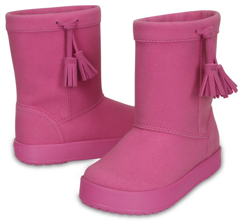 Crocs Kids LodgePoint Boot Party Pink Rosa Kinder Regen Gummistiefel LP2