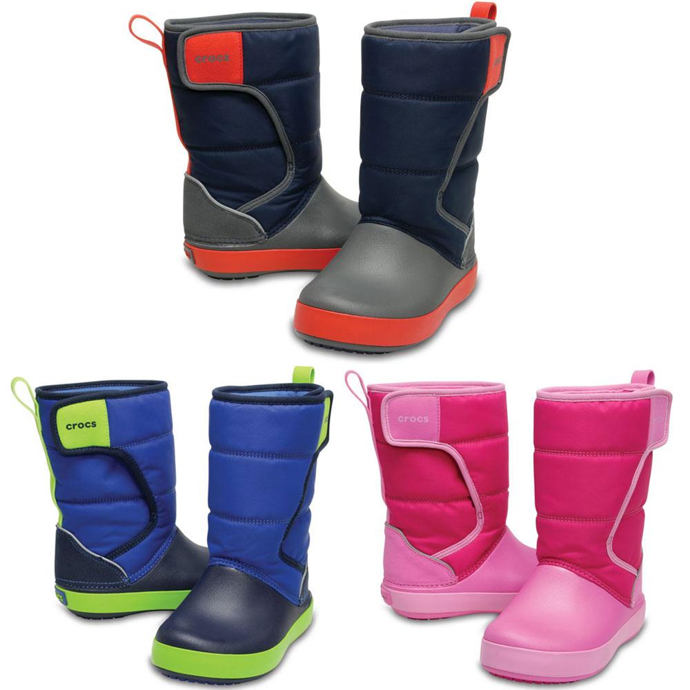 Crocs LodgePoint Snow Boot Kids leicht gefüttert Gummistiefel Schuhe