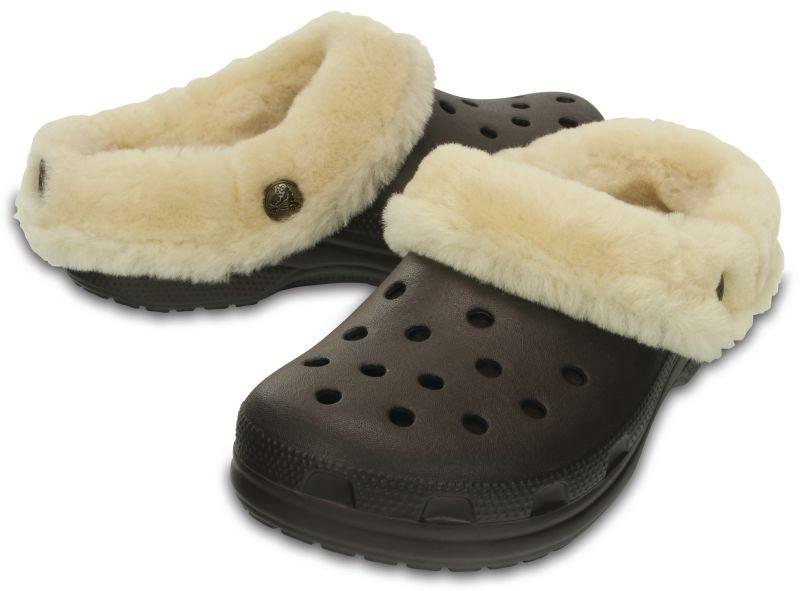 Crocs Classic Mammoth Luxe Clog braun Clogs Hausschuhe Freizeitschuhe