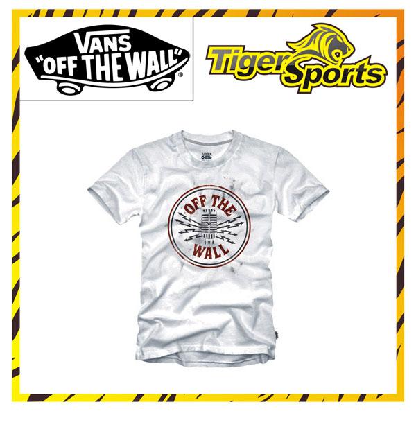 VANS T-Shirt Weiß Microphone O7AWHT Größen: XS-XXL