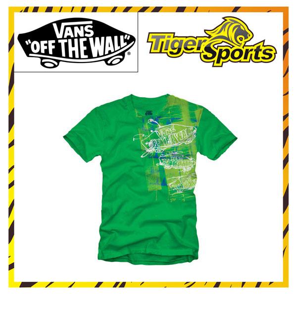 VANS T-Shirt Grün / Spill O7JKLZ Größen: XS-XXL
