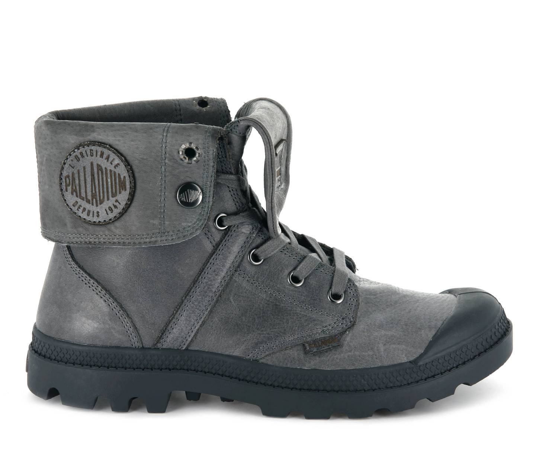 Palladium Pallabrouse Baggy L2 grau French Metal Schnürstiefel Boots Damen
