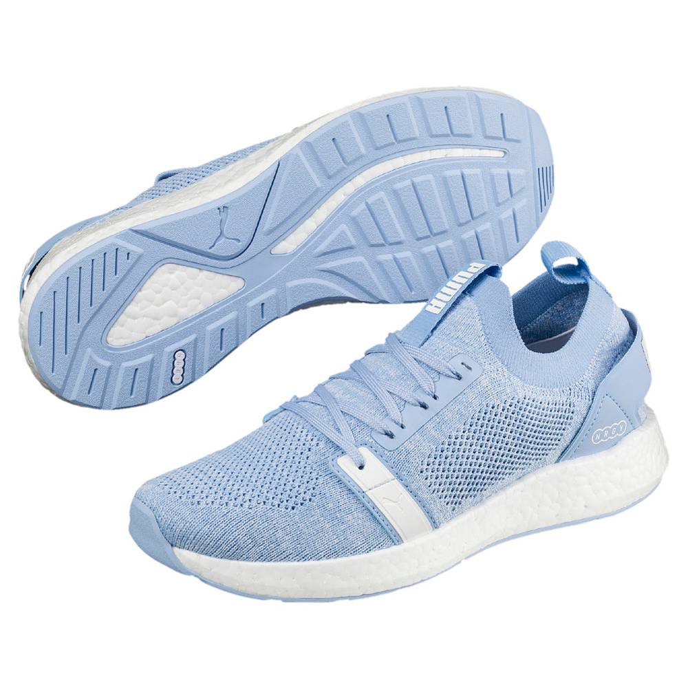 Puma NRGY Neko Engineer Knit Wns blau Cerulean White Low-Cut Sneaker Damen