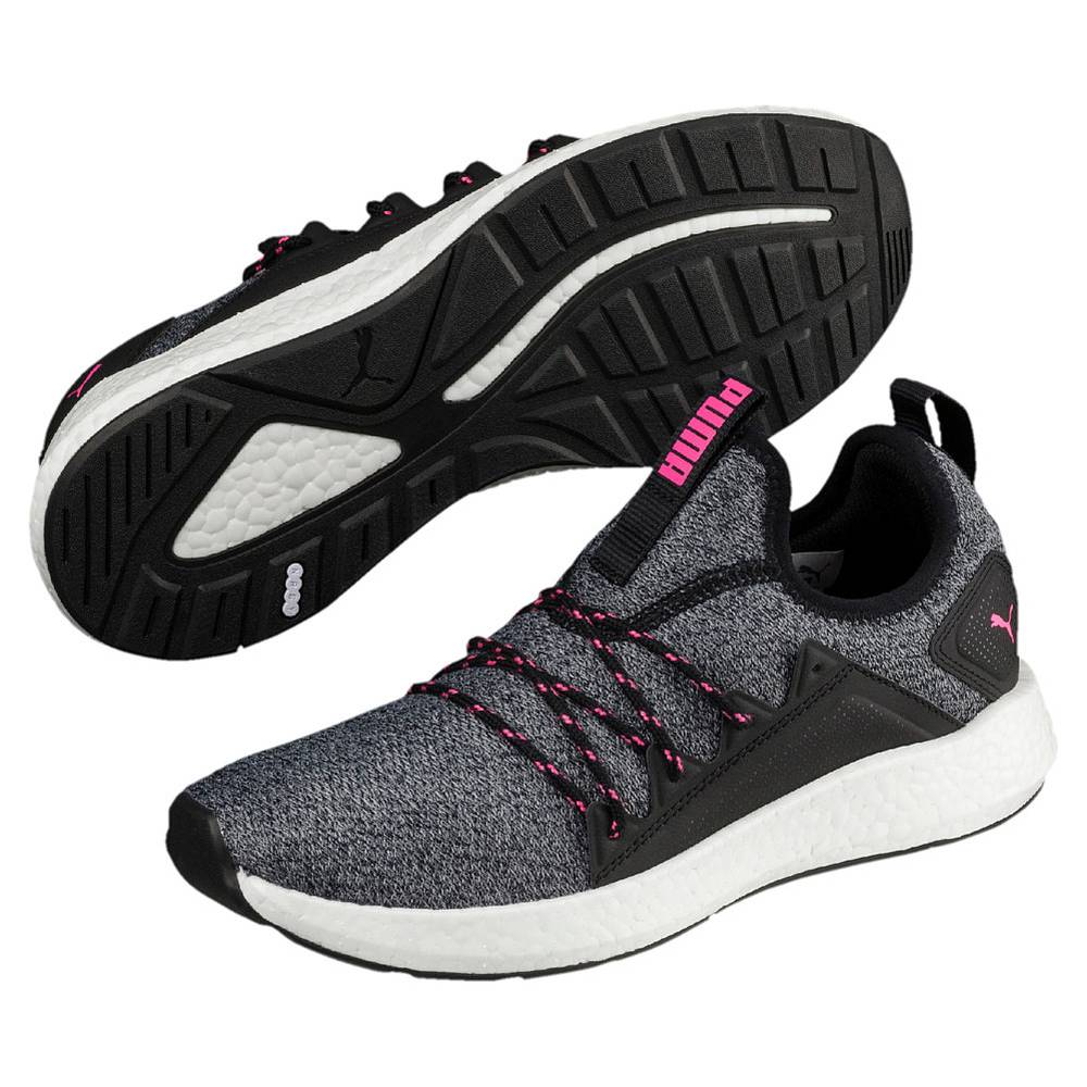 Puma NRGY Neko Knit Wns schwarz pink Black Knockout Pink Low-Cut Sneaker Damen