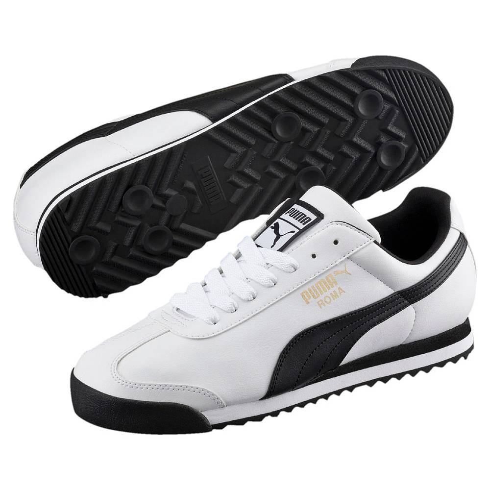 Puma Roma Basic weiß schwarz white black Schuhe Low-Cut Sneaker Herren