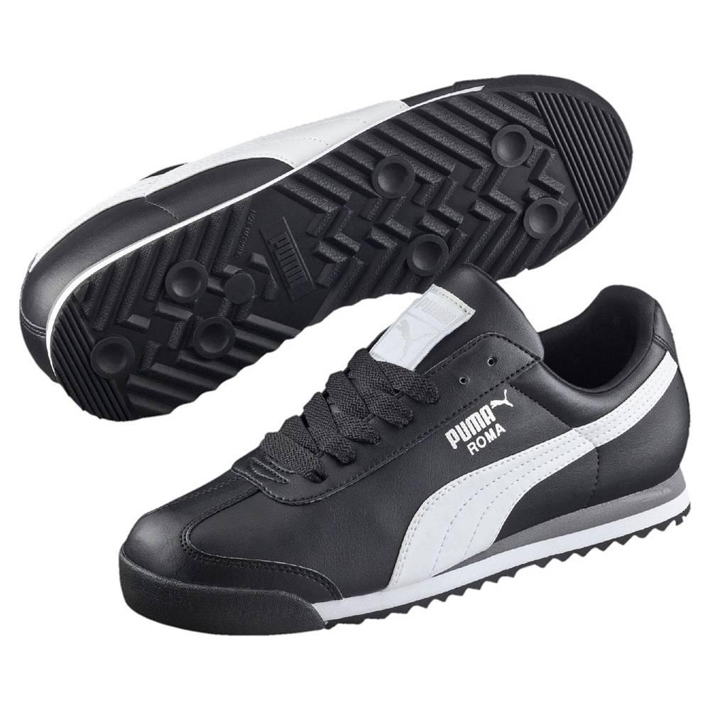 Puma Roma Basic schwarz silber black white silver Schuhe Low-Cut Sneaker Herren