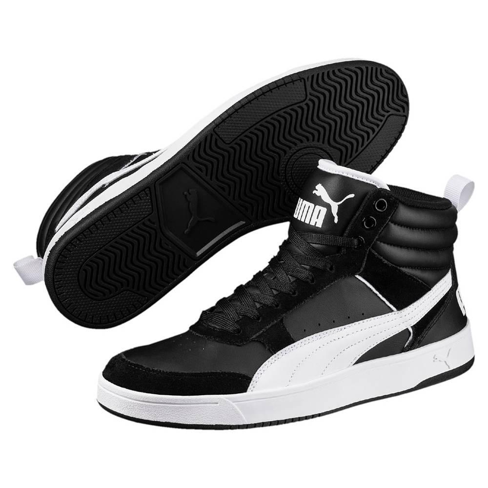 Puma Puma Rebound Street v2 schwarz weiß Black White Hi-Cut Sneaker Unisex