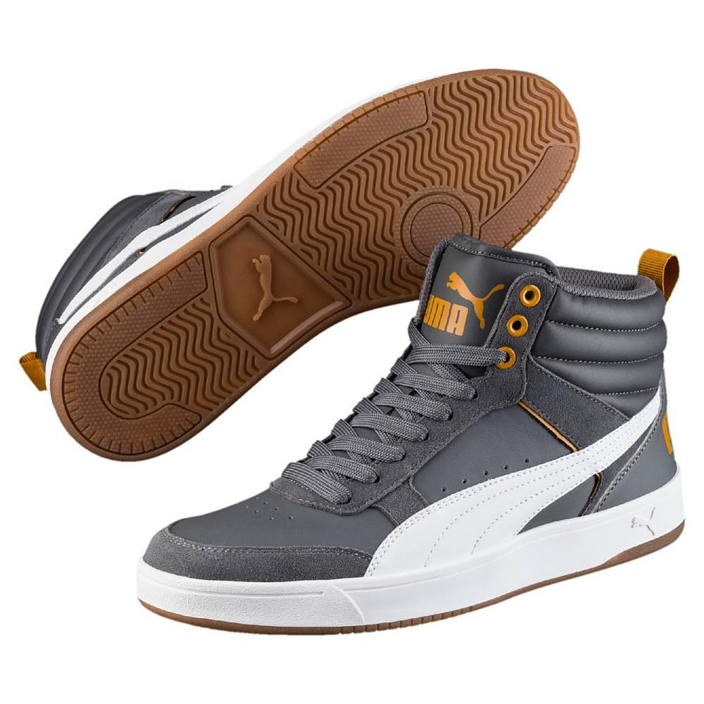 Puma Puma Rebound Street v2 grau Iron Gate White Buckthorn Brown Hi-Cut Sneaker