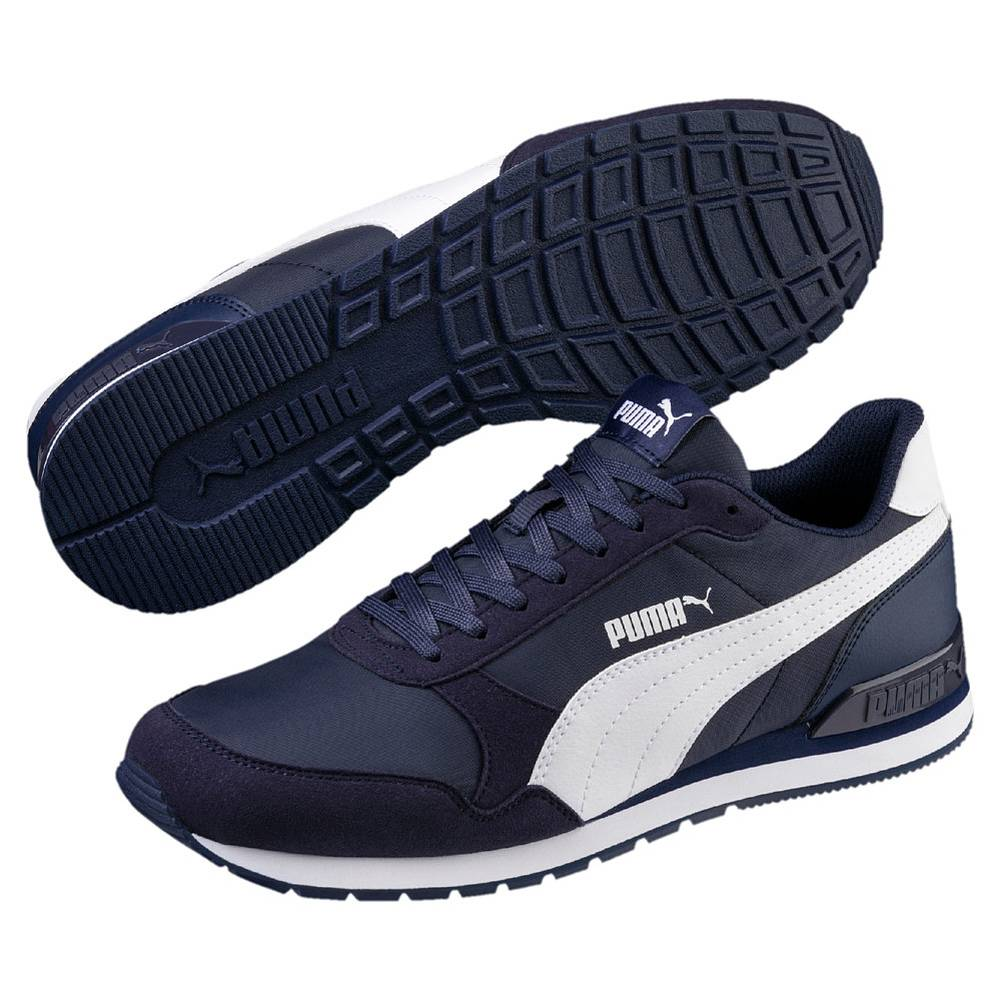 Puma ST Runner v2 NL blau weiß Peacoat White Schuhe Low-Cut Sneaker Unisex