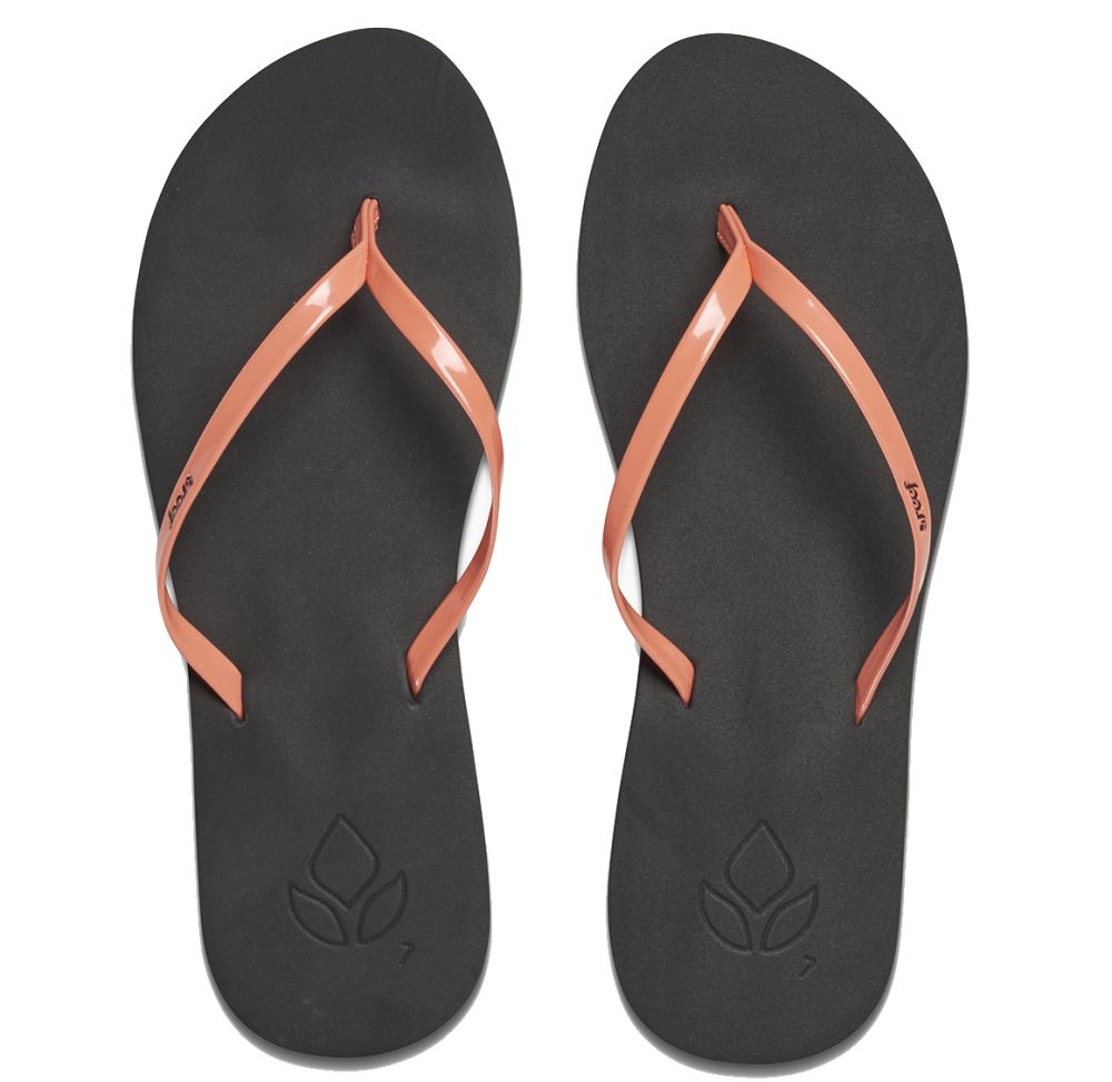 Reef Bliss orange koralle Synthetik Sandalen Zehentrenner Schuhe Neu R1010COR
