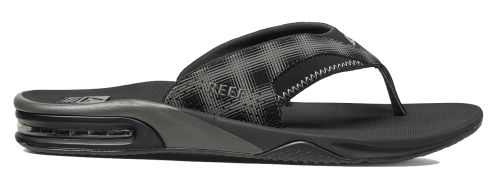 Reef Fanning Prints schwarz Nubukleder Sandalen Zehentrenner Schuhe R2146BP4