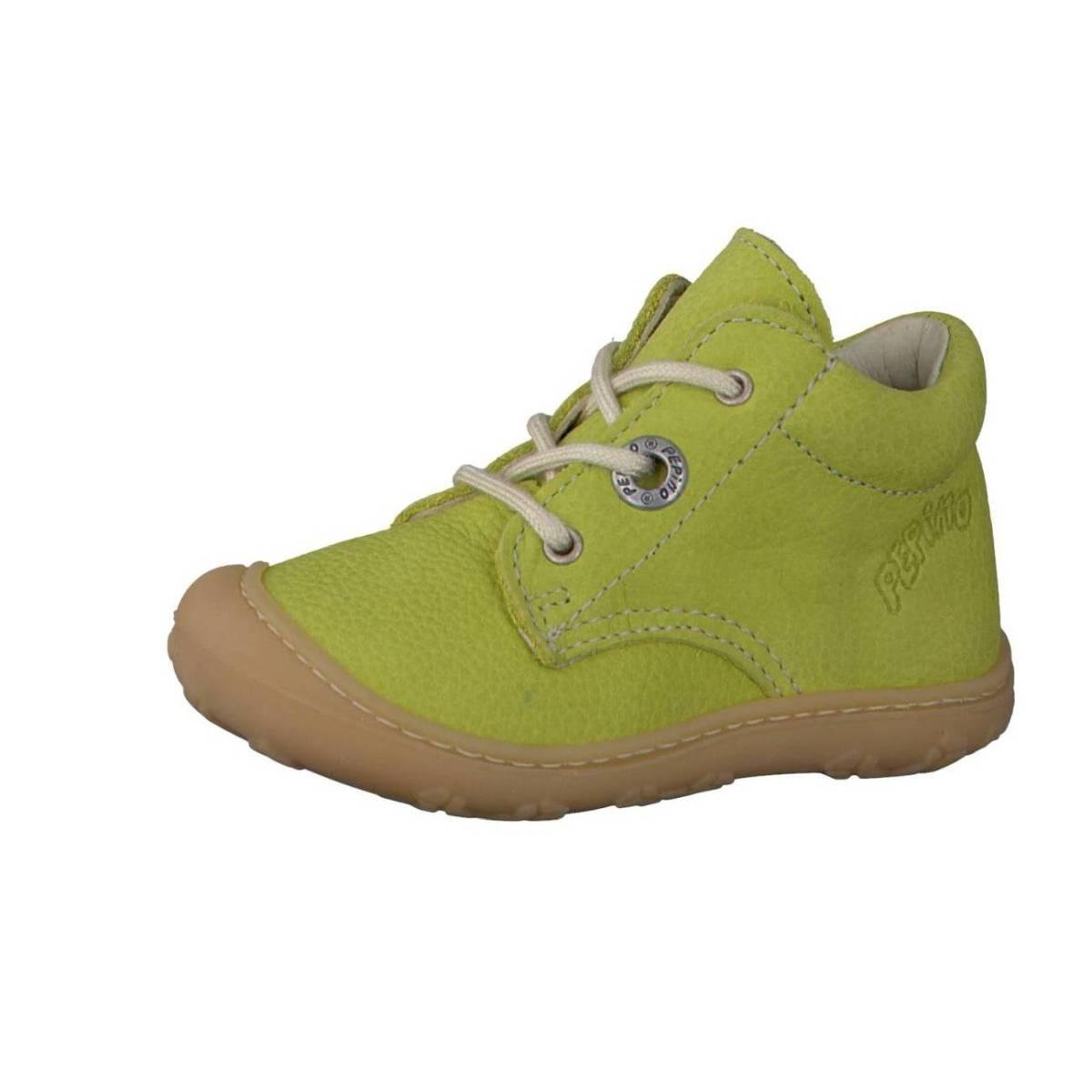 Ricosta Pepino Cory grün lime Lauflernschuhe Stiefelchen Boots Jungen Mädchen