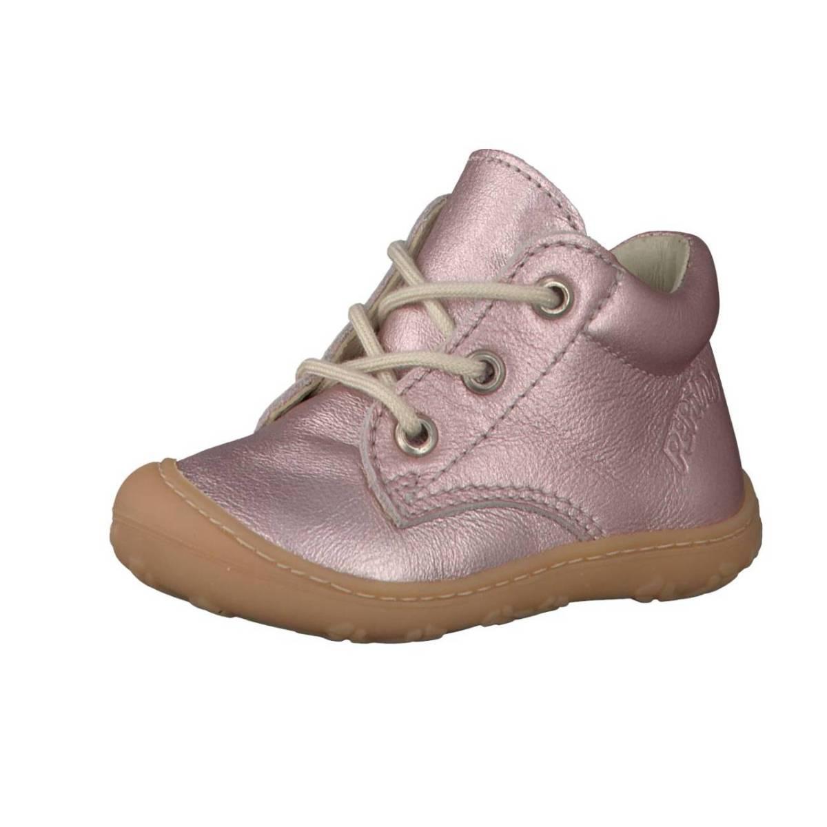 Ricosta Pepino Corbi rose glänzend rose metallic Lauflernschuhe Stiefel Kinder