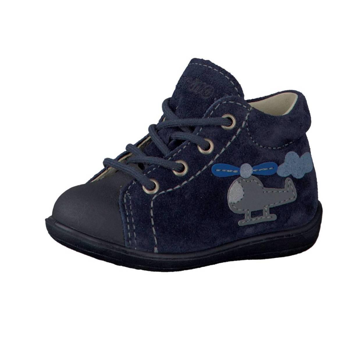 Ricosta Pepino Andy dunkelblau flieder nautic Lauflernschuhe Stiefelchen Kinder