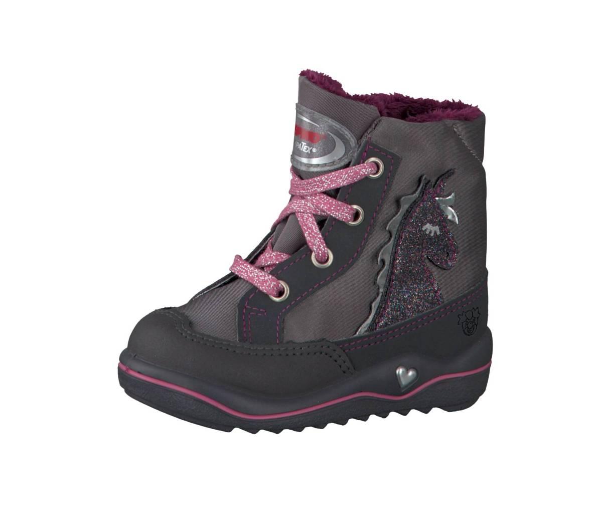 Ricosta Pepino Alina grau rosa (Einhorn) grigio patina Stiefel Jungen Mädchen