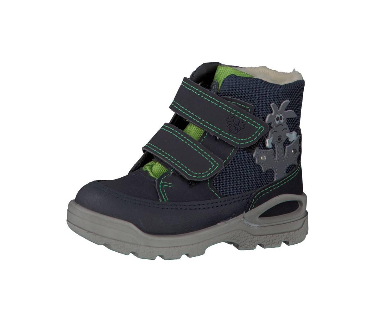 Ricosta Pepino Bixi blau grün Blinklicht Drachen see ozean gras Stiefel Kinder