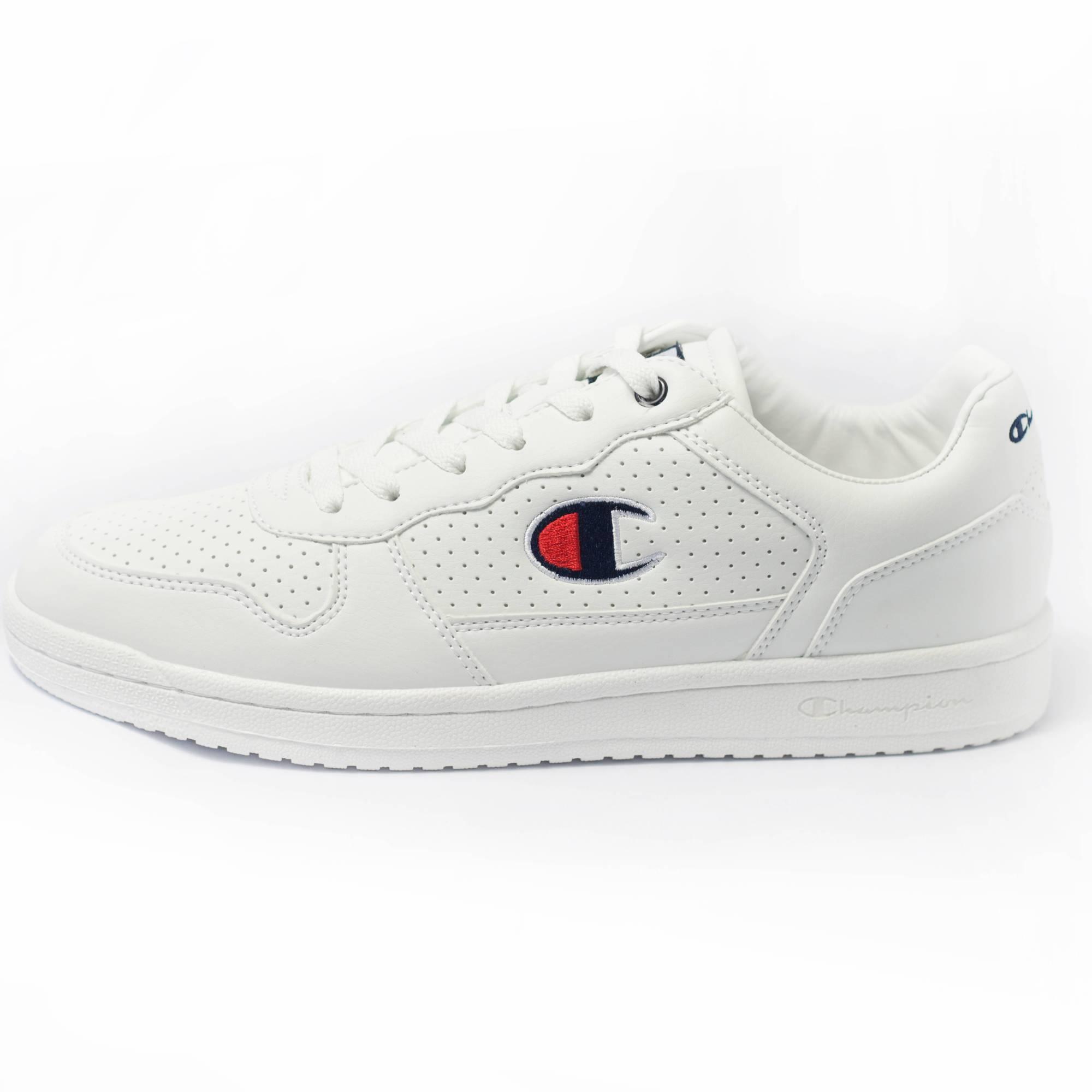 zu Herren Erwachsene Low Champion Chicago Sneaker Weiß Schuhe white Details PU 92IEDH