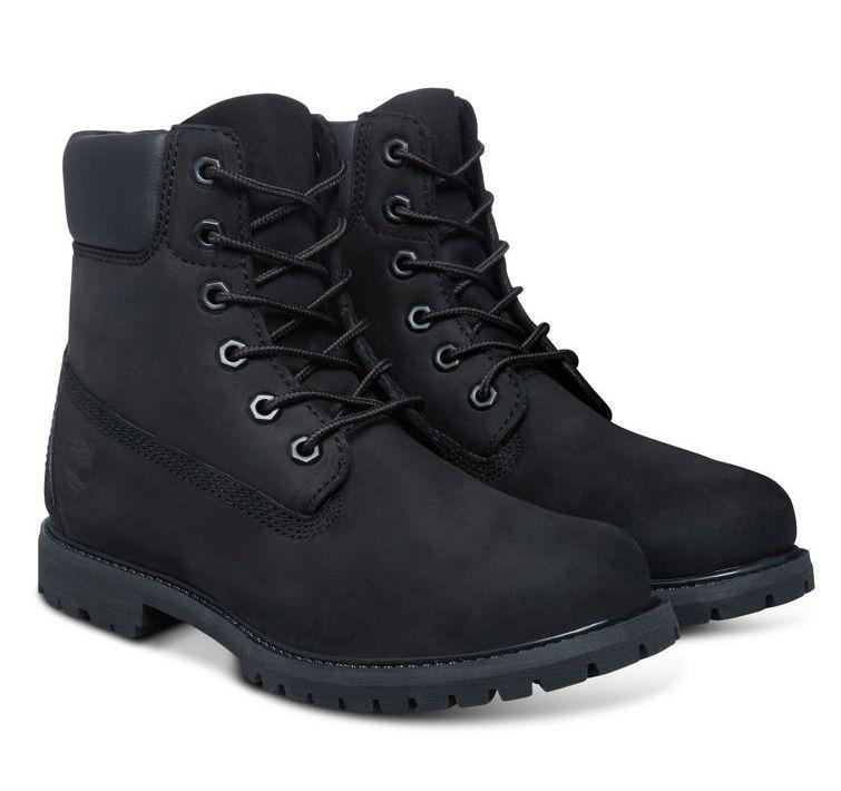 Timberland 6-Inch Premium Boot Women Stiefel Black Schwarz Schuhe T8658A