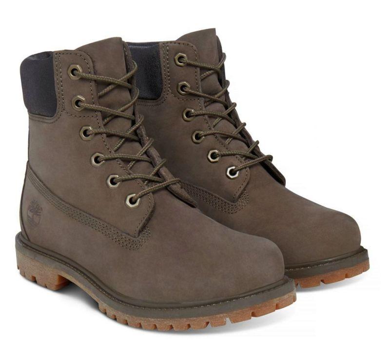 Timberland 6-Inch Premium Boots Damen braun Schnürstiefel Boots Nubukleder