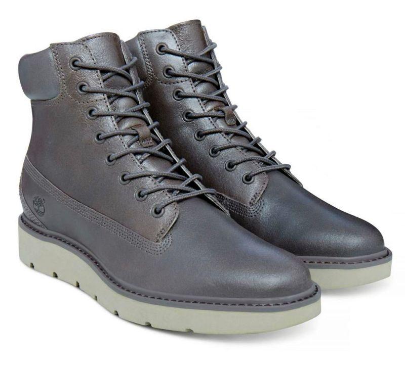 Timberland Kenniston 6-Inch Lace grau metallic Schnürstiefel Boots Nubukleder