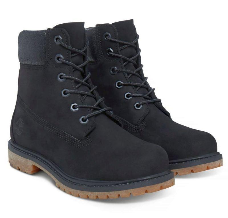 Timberland 6-Inch Premium Boots Damen schwarz Schnürstiefel Premium-Nubukleder