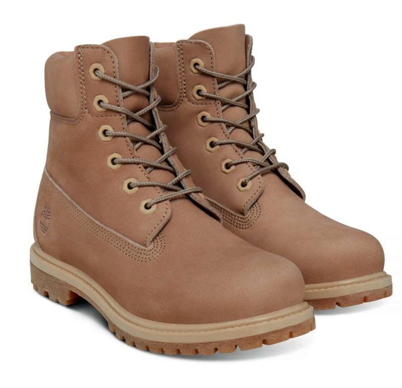 Timberland 6-Inch Premium Boot Damen natur braun Schnürstiefel Boots Nubukleder