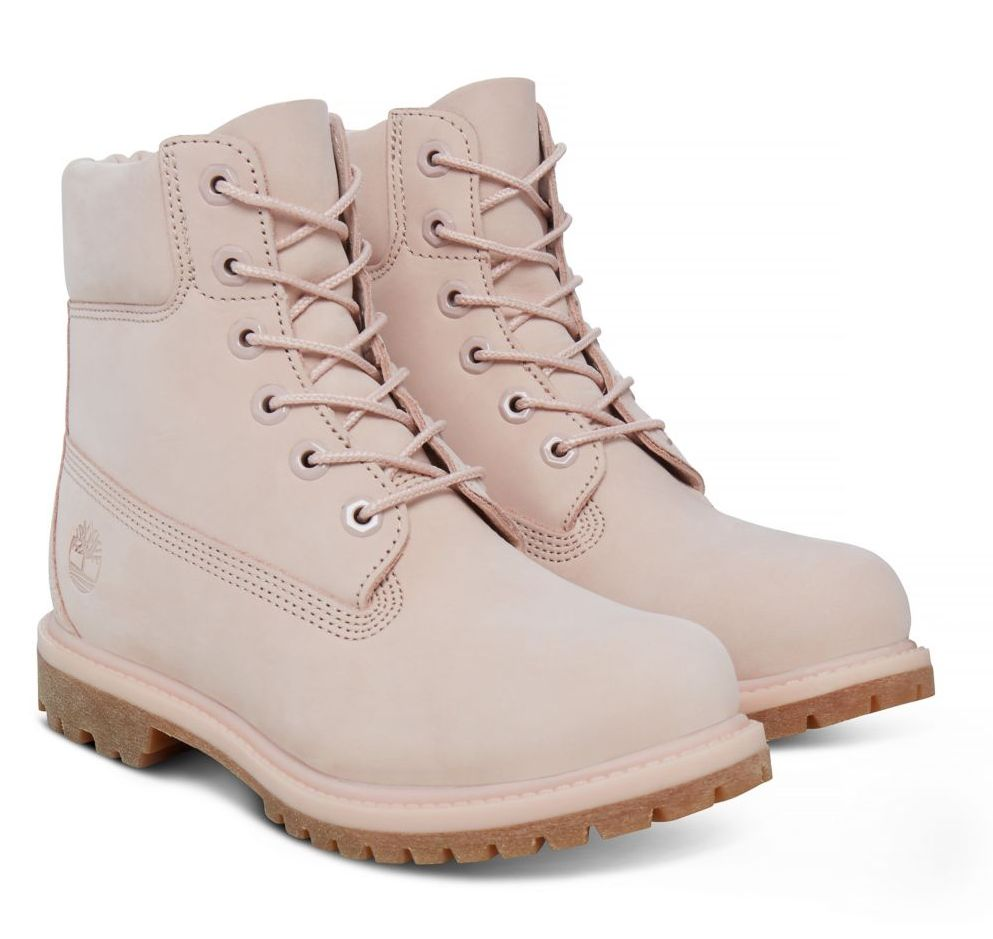 Timberland 6-Inch Premium Boot Damen rosa Schnürstiefel Boots Premium-Nubukleder
