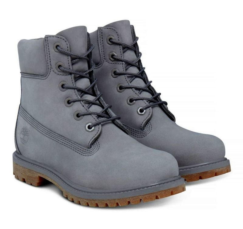 Timberland 6-Inch Premium Boot Damen grau Schnürstiefel Boots Trekking Leder