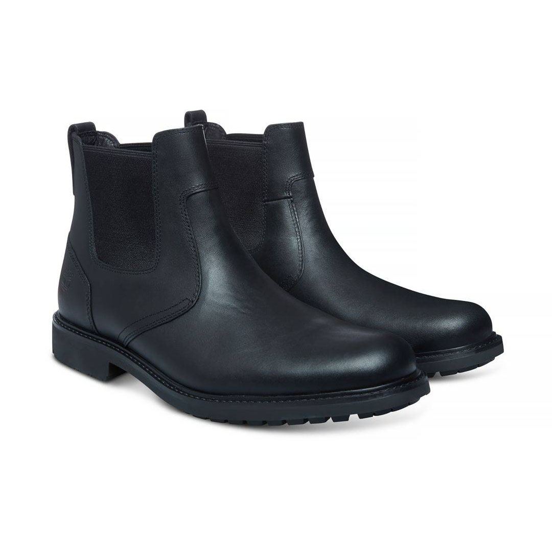 Timberland Stormbucks schwarz Black Smooth Schuhe Stiefelette Boots Herren