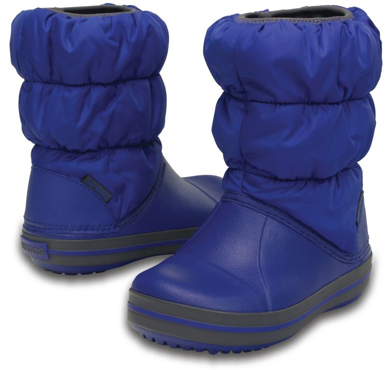 Crocs Kids Winter Puff Boot Blaugrau Blue Kinder Regen Gummistiefel WPB2