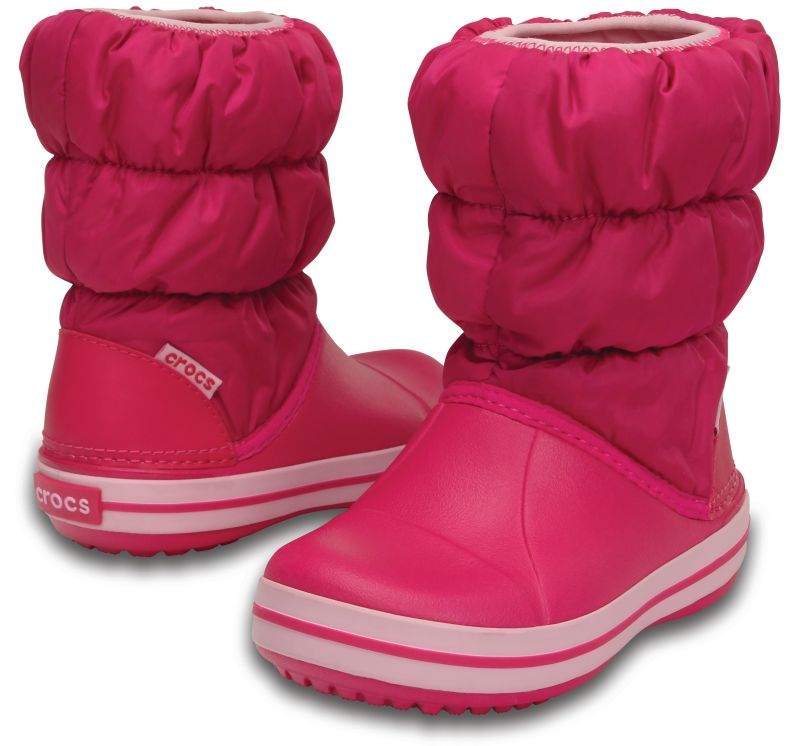Crocs Kids Winter Puff Boot Candy Pink Rosa Kinder Regen Gummistiefel WPB3