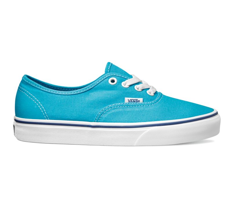 Vans Authentic Cyan Blau Weiß Canvas Sneaker Schuhe ZUKFRY