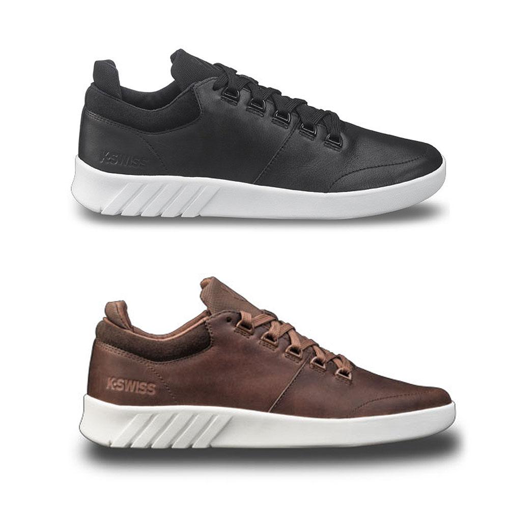 K-Swiss Aero Low-Cut Herren Sneaker Freizeitschuhe Turnschuhe Leder Schuhe