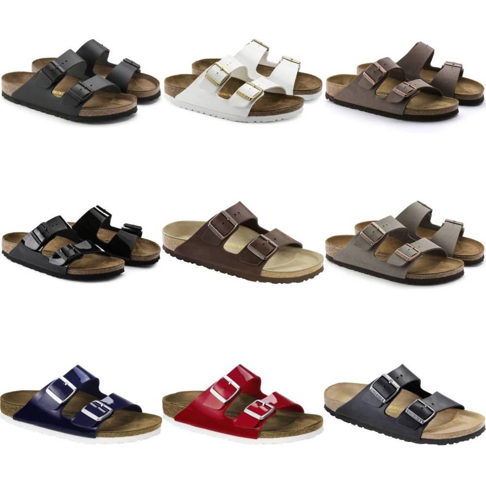 BIRKENSTOCK Arizona 2-Riemen-Sandale Birko-Flor Leder Unisex Schuhe