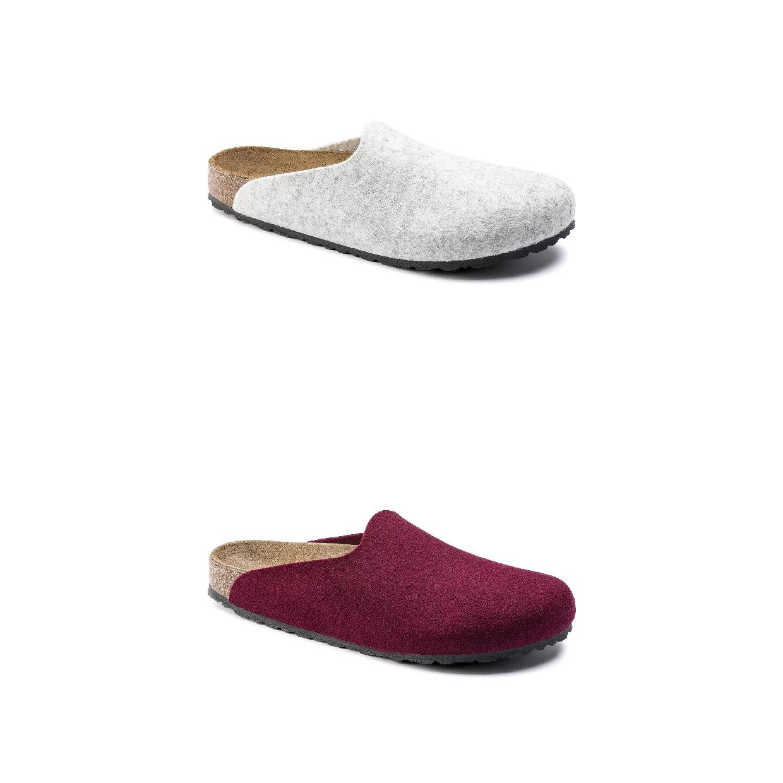 Birkenstock Amsterdam Clogs Sandalen Wollfilz Damen Schuhe HW19