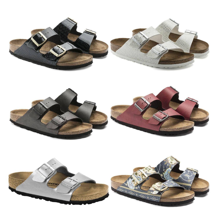 Birkenstock Arizona Sandalen Hausschuhe Birko-Flor Damen Schuhe FS18