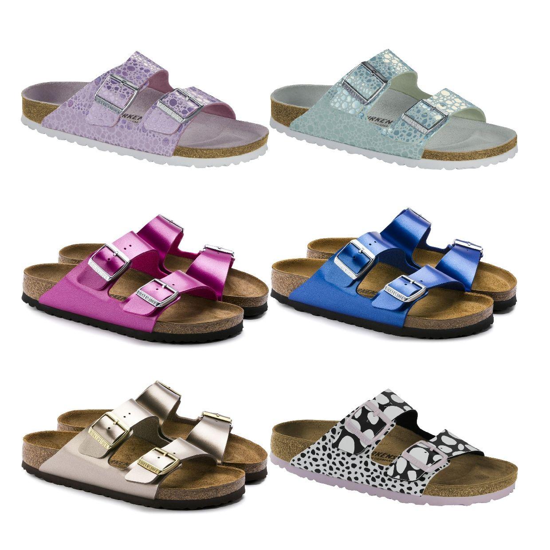 Birkenstock Arizona Sandalen Hausschuhe Birko-Flor Damen Schuhe FS19