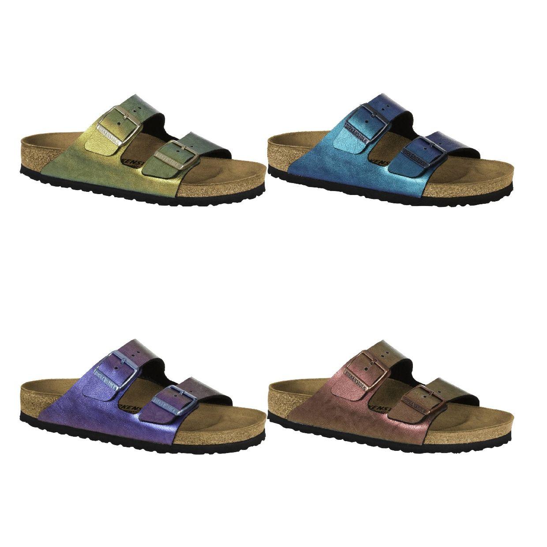 Birkenstock Arizona Sandalen Hausschuhe Birko-Flor Damen Schuhe HW18