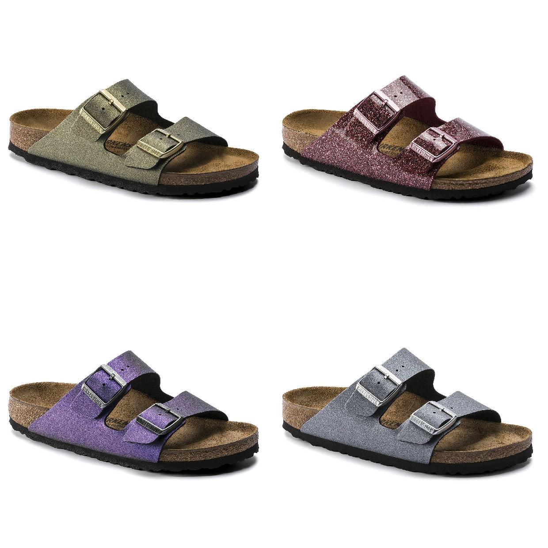 Birkenstock Arizona Sandalen Hausschuhe Birko-Flor Damen Schuhe HW19