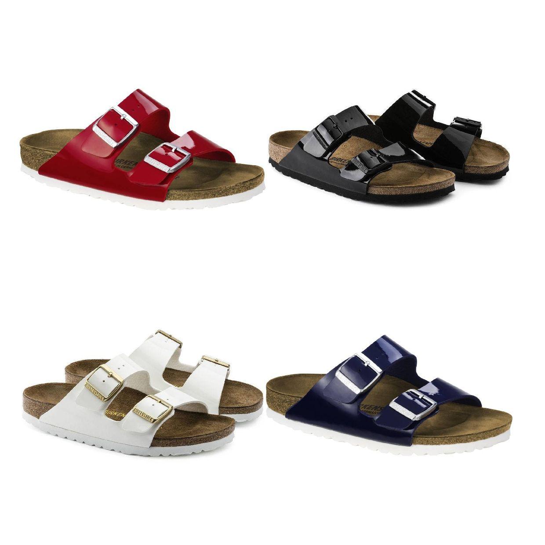 Birkenstock Arizona Sandalen Hausschuhe Birko-Flor Lack Damen Schuhe CO