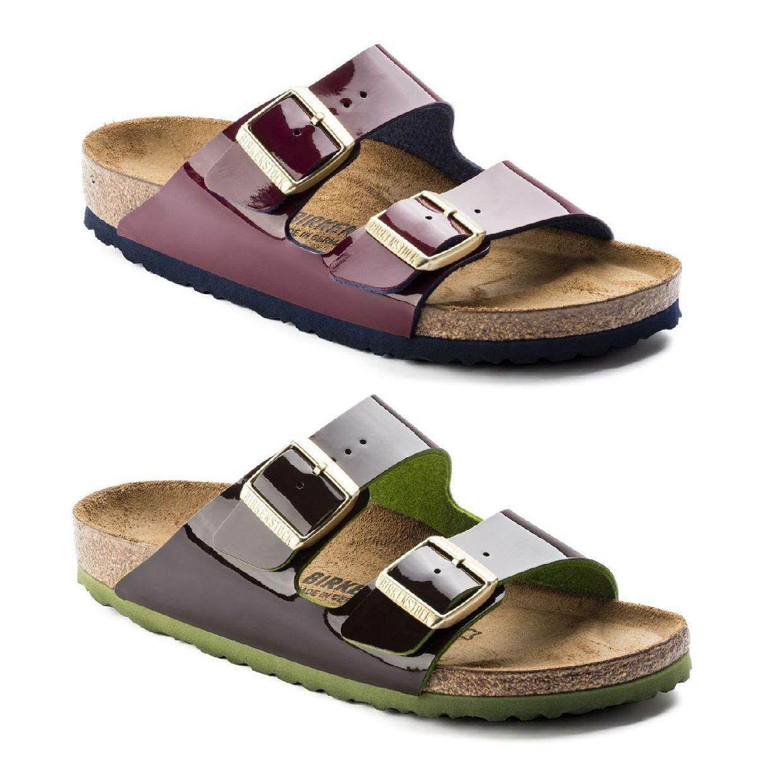 Birkenstock Arizona Sandalen Hausschuhe Birko-Flor Lack Damen Schuhe HW17