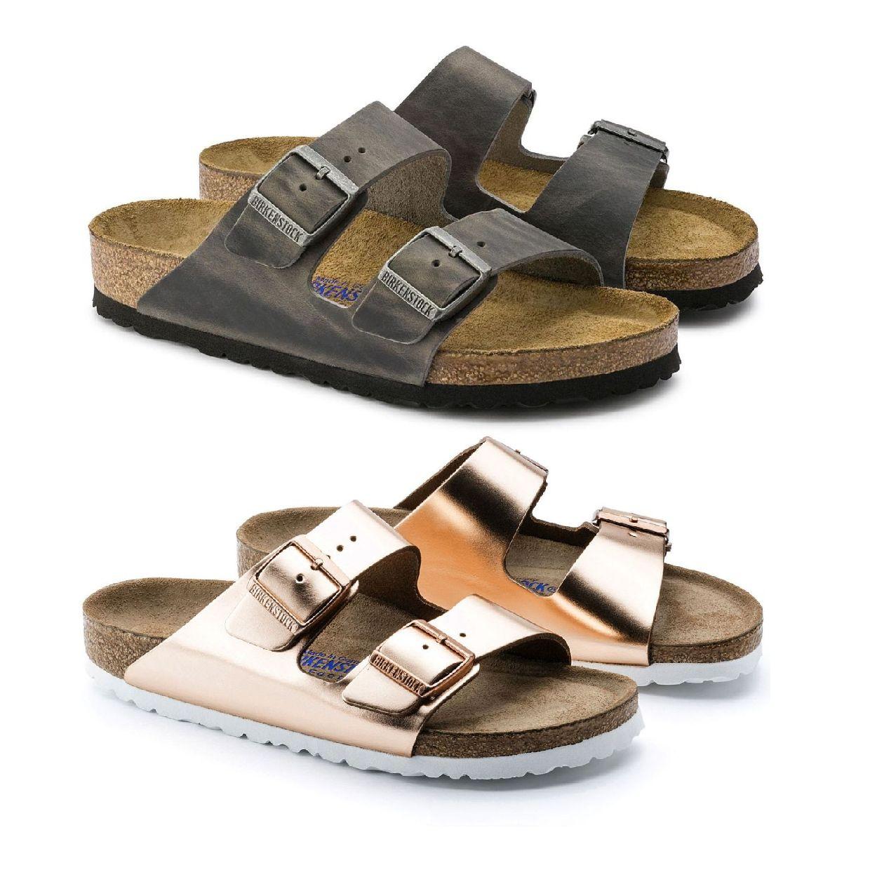 Birkenstock Arizona Sandalen Hausschuhe Leder Damen Schuhe FS19