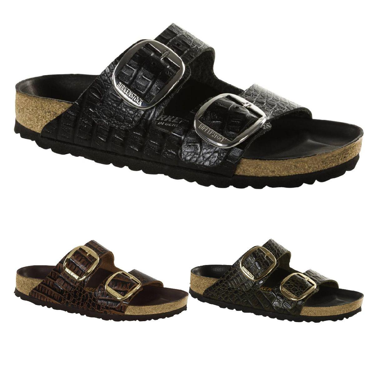 Birkenstock Arizona Sandalen Hausschuhe Leder Damen Schuhe HW18