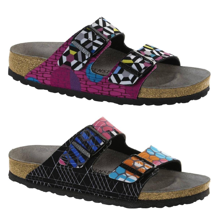 Birkenstock Arizona Sandalen Hausschuhe Lycra Damen Schuhe HW18