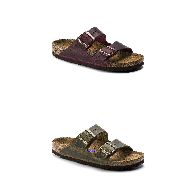Birkenstock Arizona SFB Leather Sandalen Hausschuhe Leder Damen Schuhe HW19