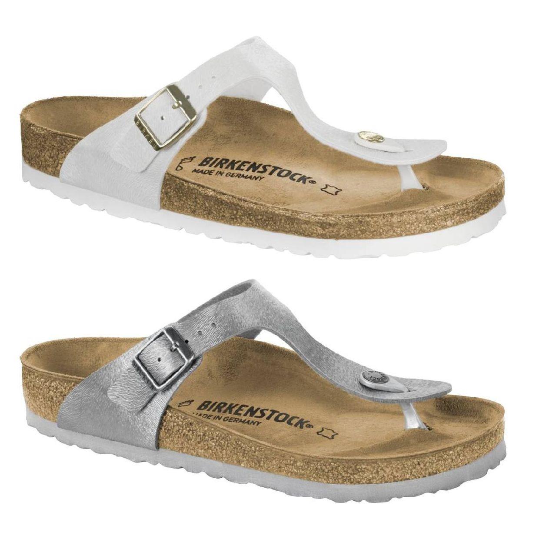Birkenstock Gizeh Zehentrenner Sandalen Birko-Flor Damen Schuhe FS18